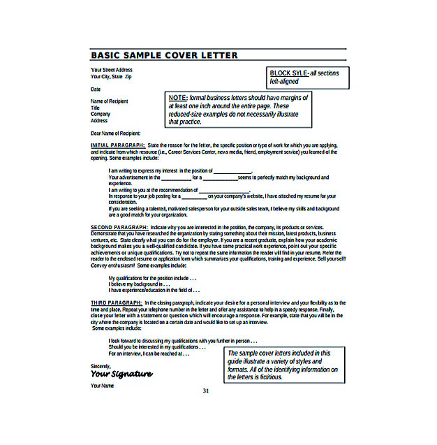 Free Resume Cover Letter Template Download | Resume Format