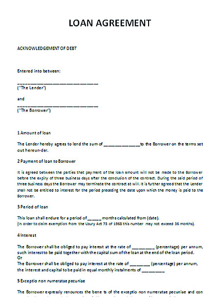 Microsoft Word Contract Template Sample Free Sublease Agreement