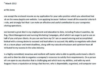 sales cover letter example