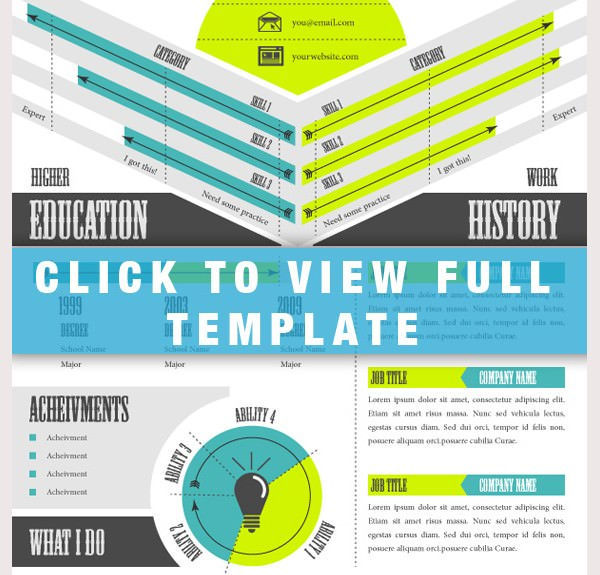 Awesome Infographic Resume Template1