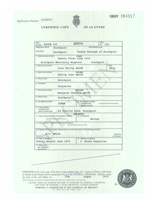 Cute Looking Birth Certificate Template