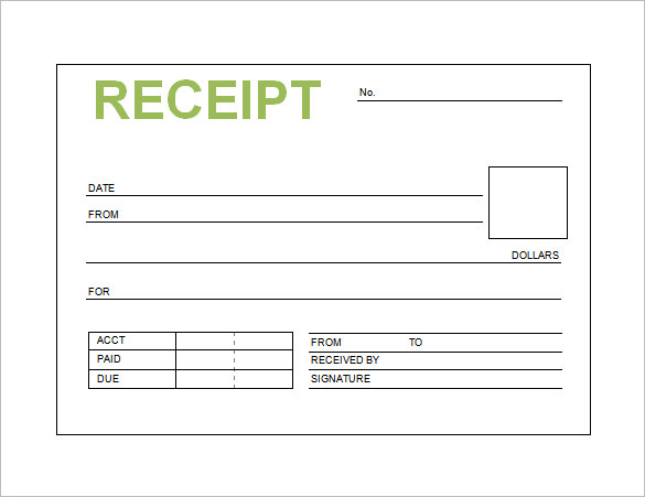 Receipt Template Doc for Word Documents in Different Types You Can Use – Manual Receipt Template