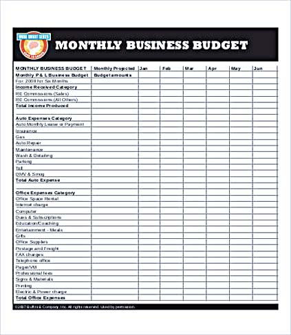 Business Budget Excel Karlapa Ponderresearch Co