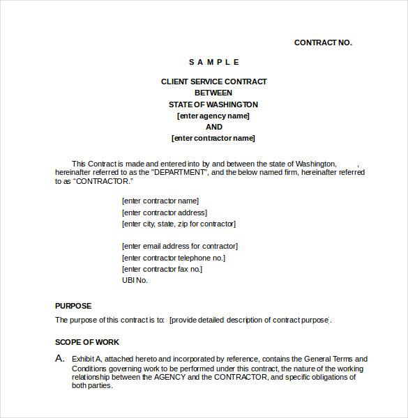 CLIENT SERVICE CONTRACT Doc