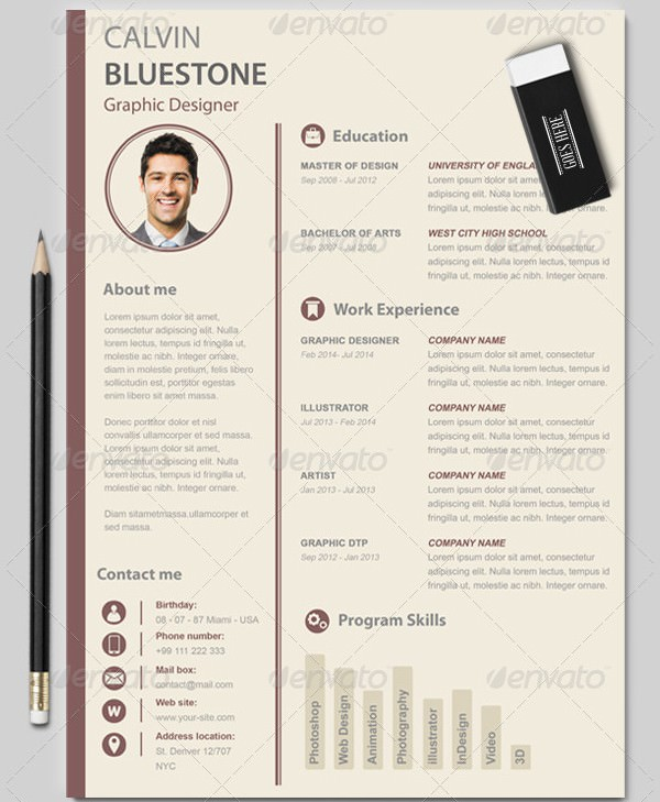 CV Resume for Graphic Designer
