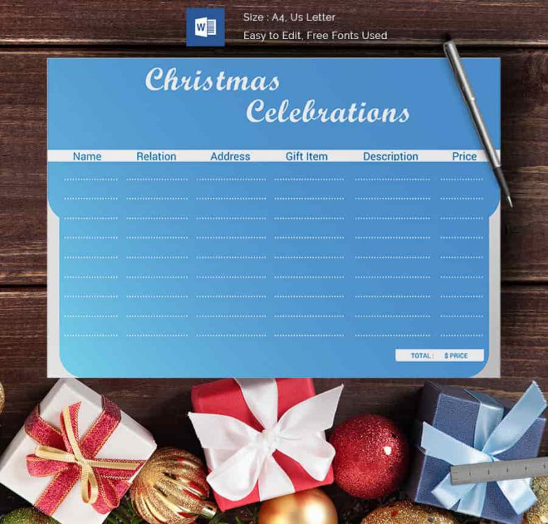 Christmas Celebrations Gift List 788x753