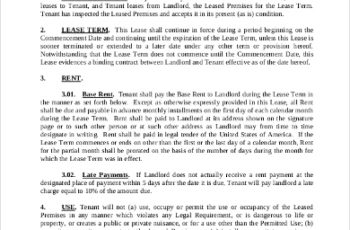 Commercial Lease Agreement Bc Template Docs Form