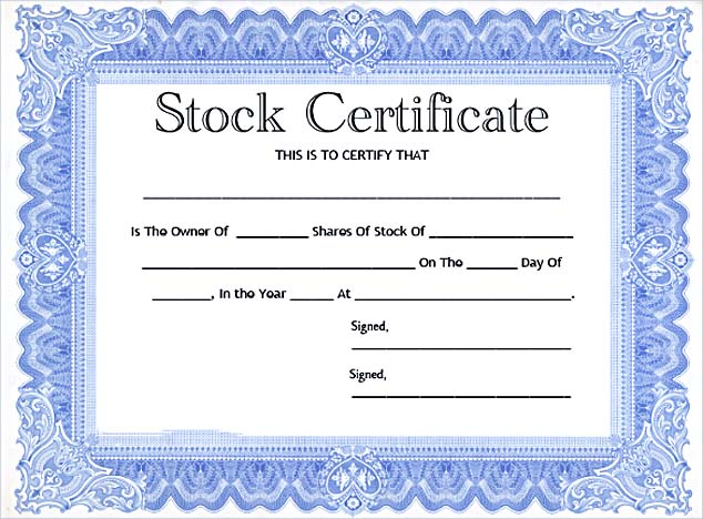 Common Stock Certificate Template Free PDF_001