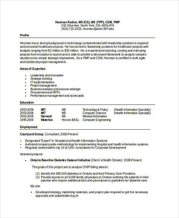 computer science resume template for it workers