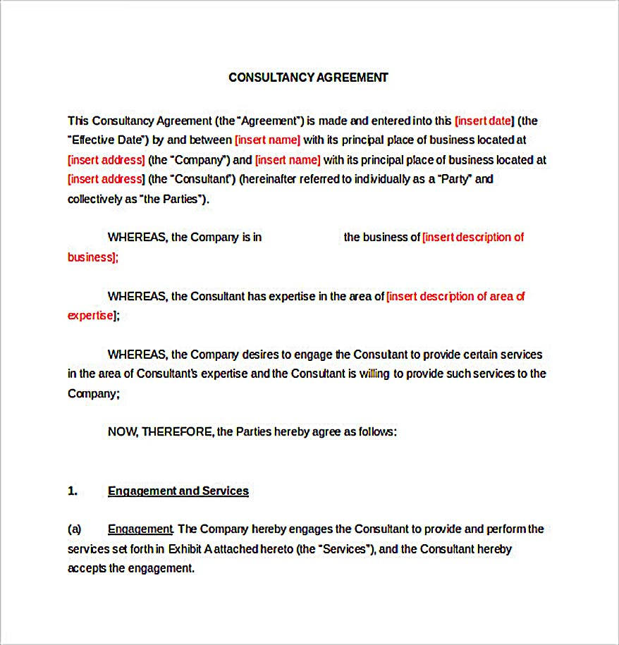 Consultancy Consulting Agreement_1