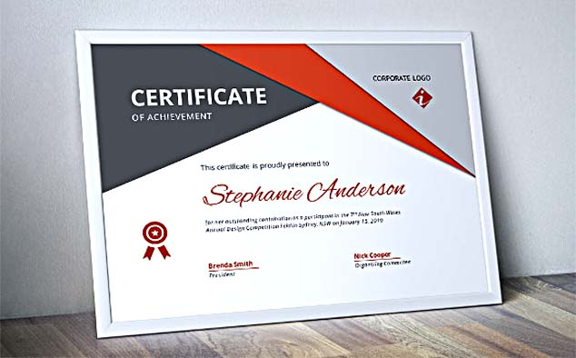 Corporate Business Certificate Template Word Format