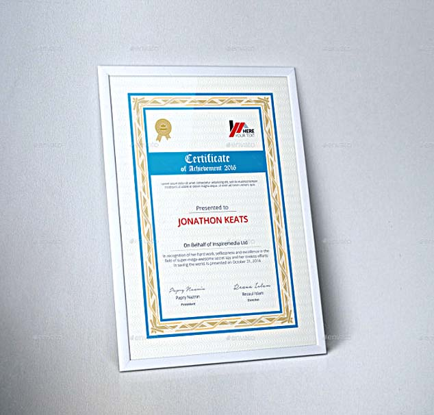 Corporate Certificate Template Word Format