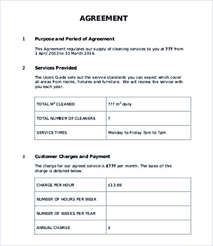 Customer Service Agreement Template Vosvetenet – Free Service Agreement Template