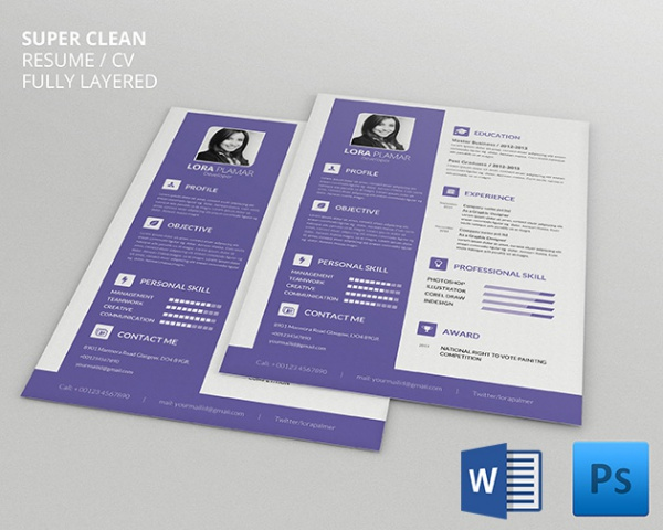 Mac Resume Template  Great For More Professional Yet Attractive