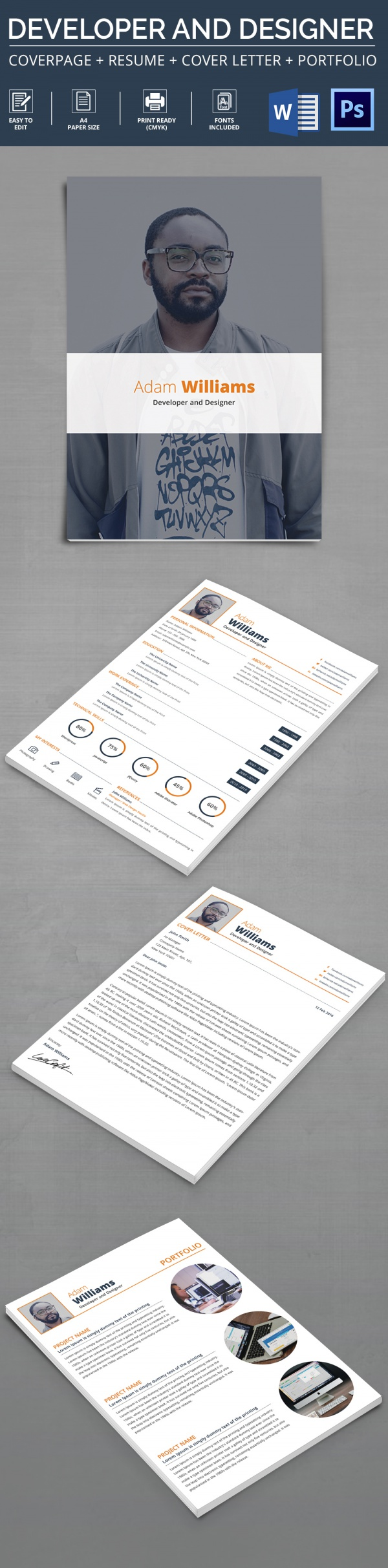 Developer And Designer Resume Template  Sample Professional Resume Templates