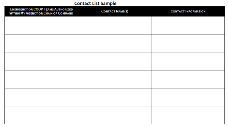Contact List Template Several Options of Categorization to Know – Contact List Templates