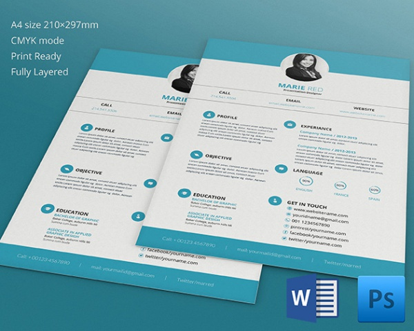 Editable Presentation Designer Resume