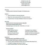 Education Quickstart Teacher Resume Template Free Download