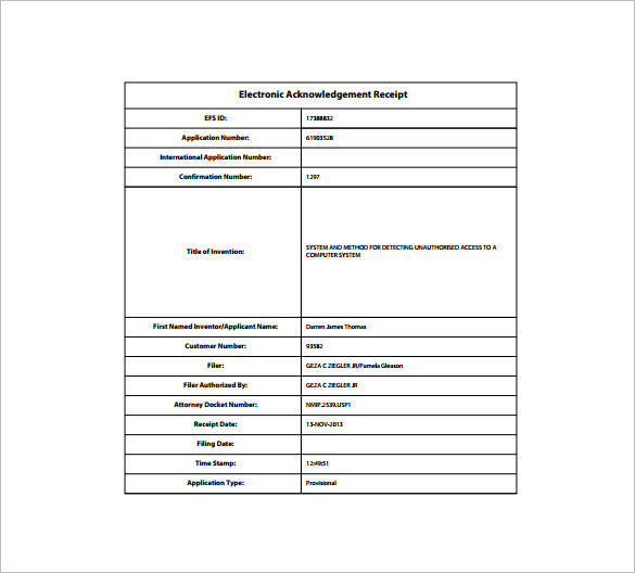e receipt template receipt template doc for word documents in different types