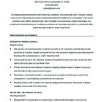 English Teacher Resume Template Eord Format Download