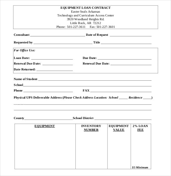 Sample car rental agreement forms 11