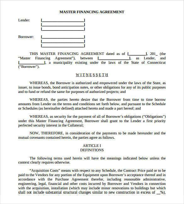 security company contract template - 26 great loan agreement template