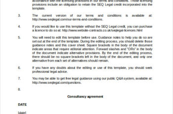 Free Consult Legal Contract Word