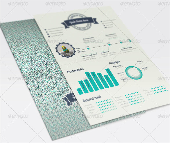 Geometric Infographic Resume Template EPS Sample