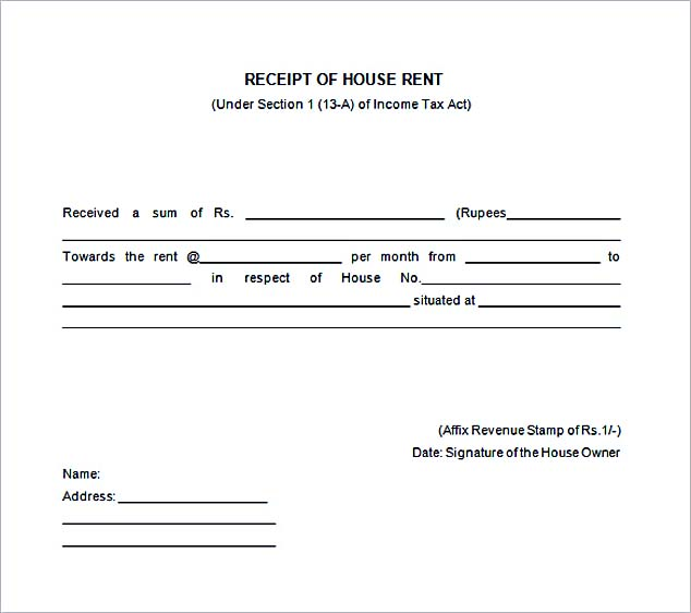Free Rent Receipt Template and What Information to Include – House Rental Receipt