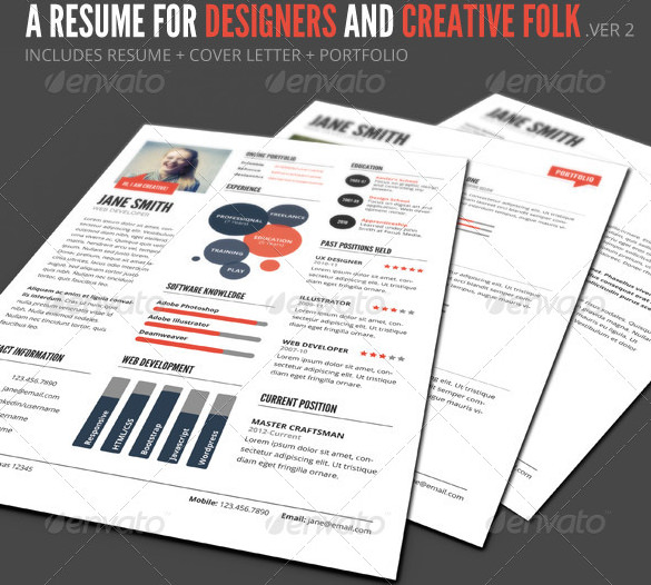 InfoGraphic Style Resume Template PSD Format