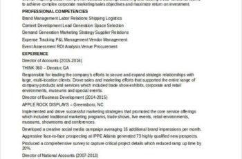 Marketing Account Executive Resume