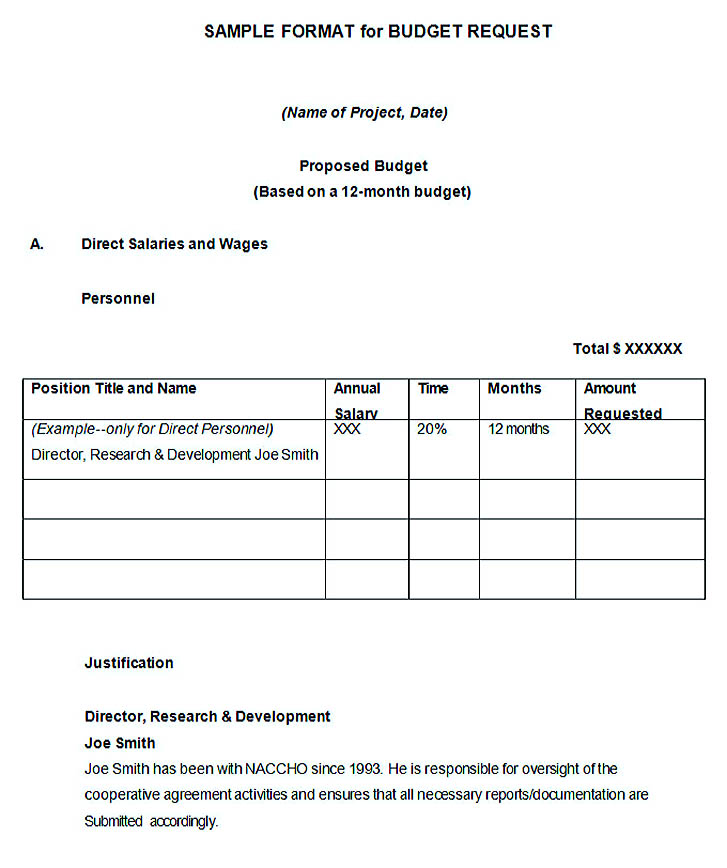 Marketing Budget Proposal Template
