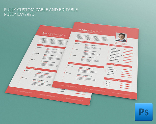 mac resume template  u2013 great for more professional yet