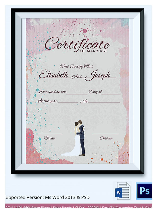 Designing using marriage certificate template for your own certificate once youre done filling out the certificate you are ready to print the document yadclub