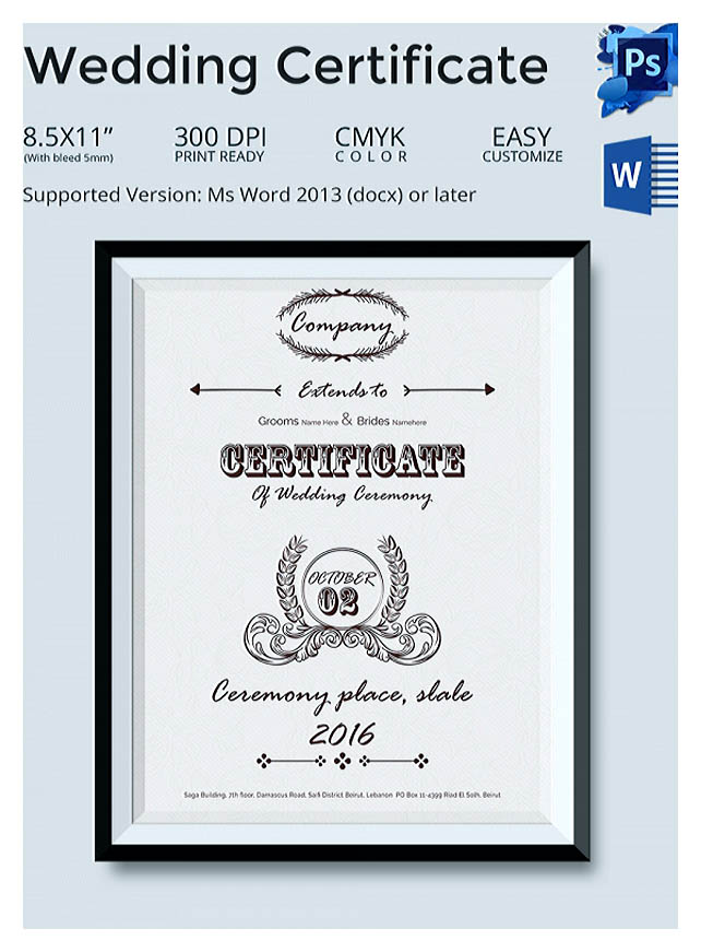 Designing using marriage certificate template for your own certificate once youre done filling out the certificate you are ready to print the document yadclub Images