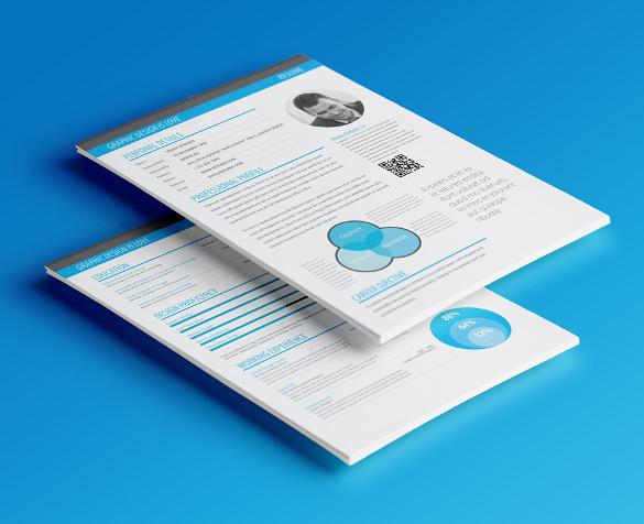 Minimalism Infographic Resume Template Premium