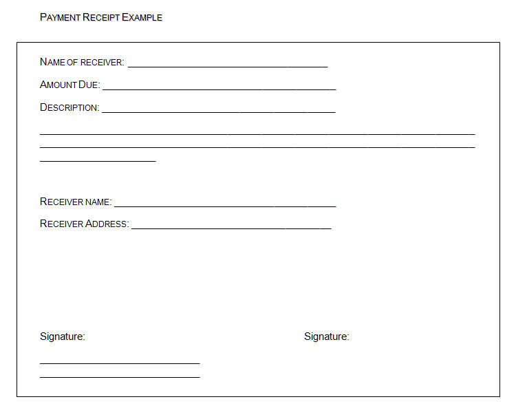 Template Docs : Form U0026 Templates Download  Example Of Receipt