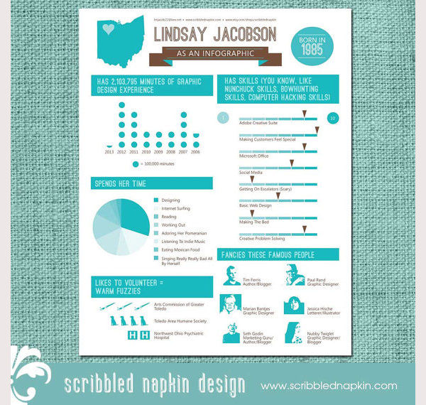 Personalized Info graphic Resume Design