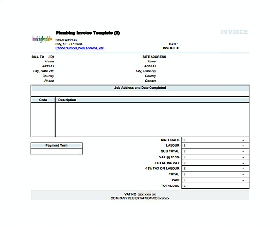 Free Service Invoice Template Format and Writing Tips – Contractor Receipt
