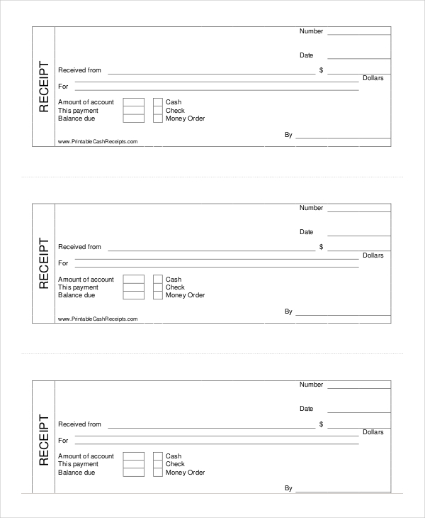 Nice Printable Cash Receipt Template  Money Receipt Template