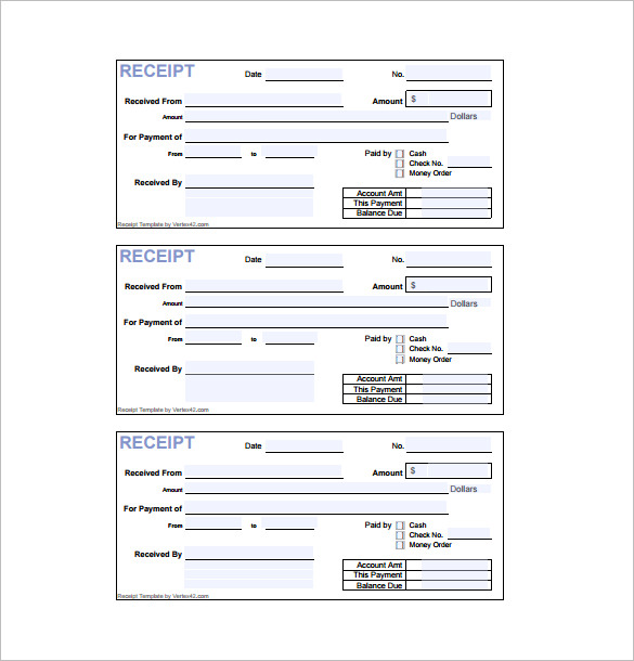 Receipt Template Doc For Word Documents In Different Types