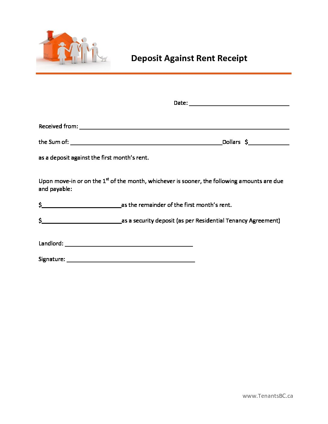 rent receipt template and what information to include printable rent receipts