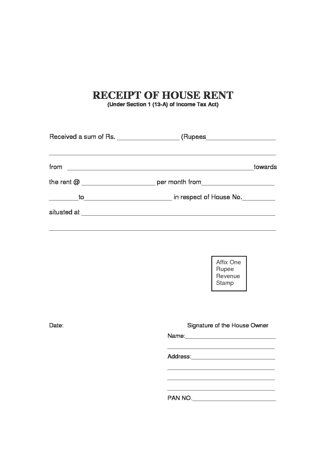 rent receipt template and what information to include