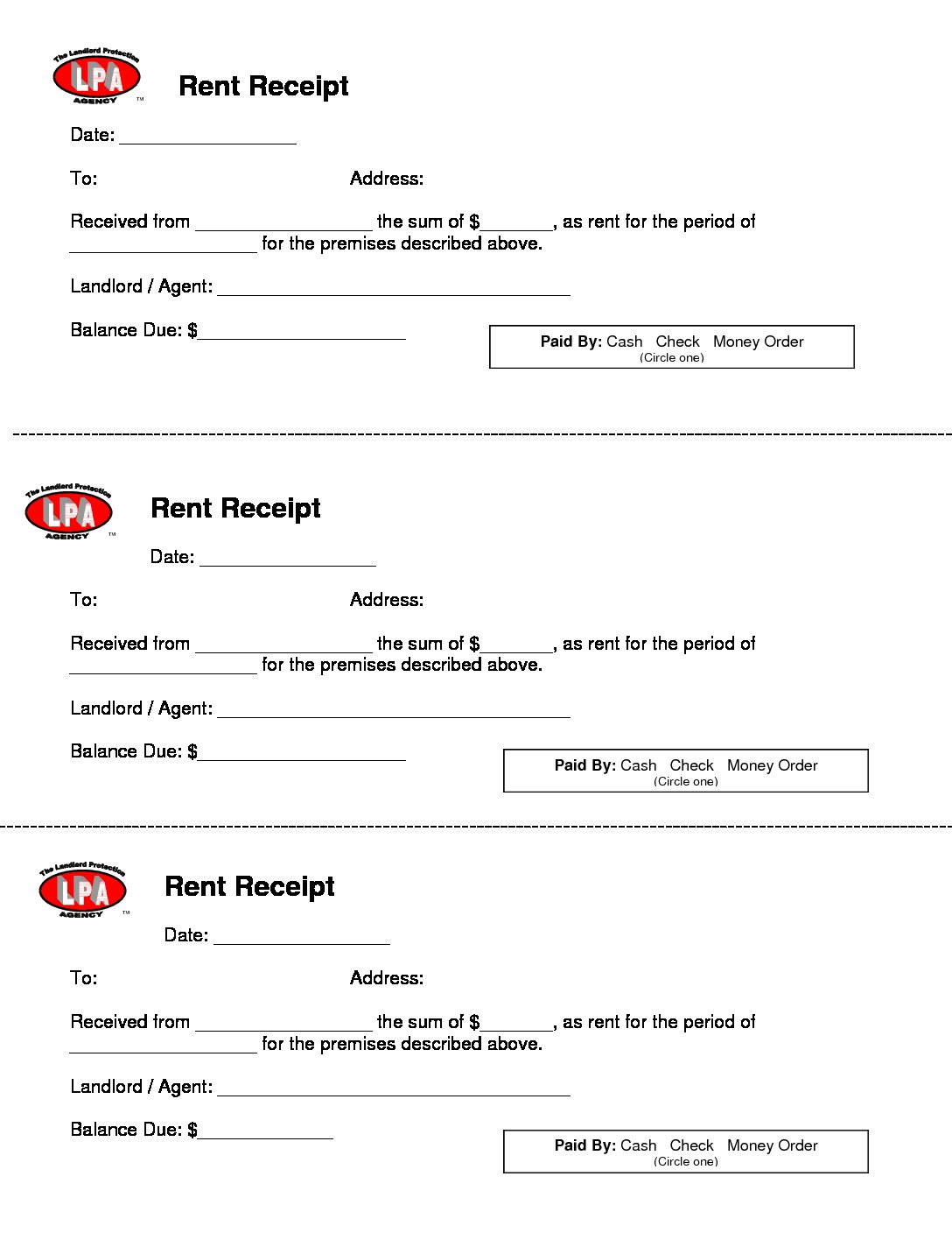 Free Rent Receipt Template and What Information to Include – Receipt for Rent Paid