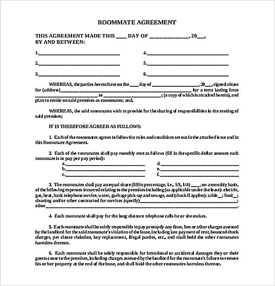 How To Create Your Own Roommate Agreement Template Easily