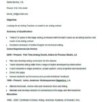 Sample Acting Teacher Coach Resume Template