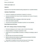 Sample Catalog Librarian Resume Template