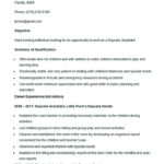 Sample Daycare Assistant Resume Template