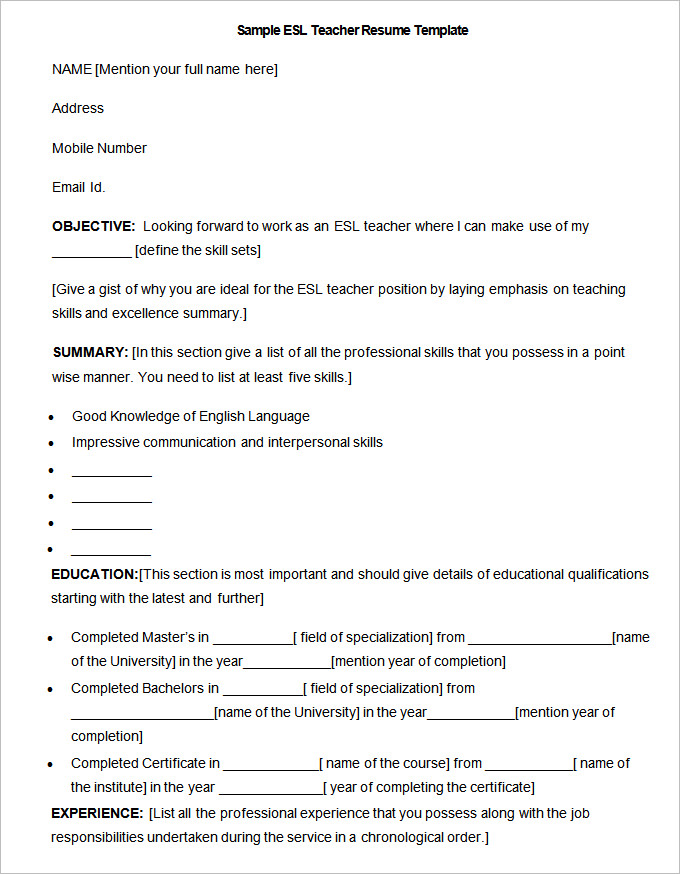 esl teacher resume cover letter Browse our esl teacher cover letter samples to learn to write the easiest cover letter yet.