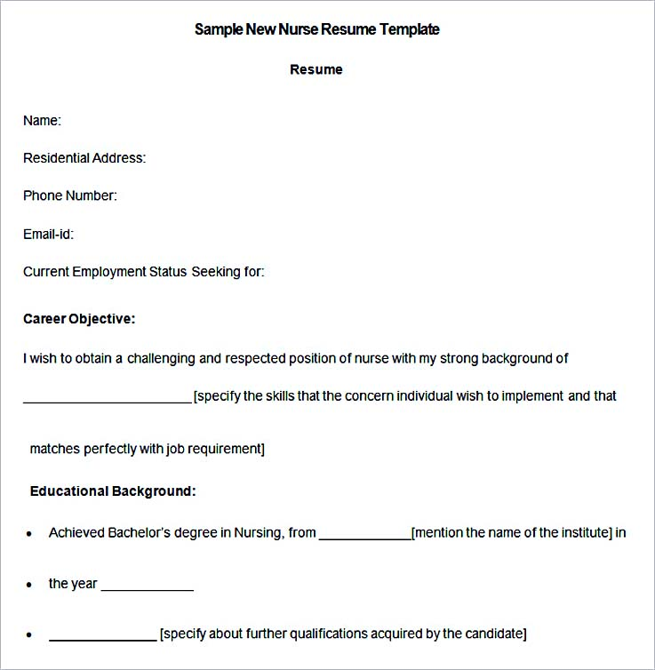 resume template nursing new grad nurse curriculum vitae rn certified assistant